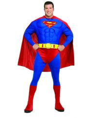 Plus Size Deluxe Muscle Chest Adult Superman Costume