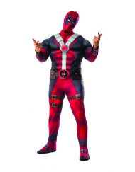 Plus Size Deluxe Muscle Chest Adult Dead Pool Costume