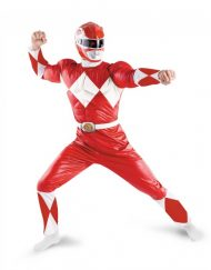 Adult Classic Muscle Red Ranger Costume