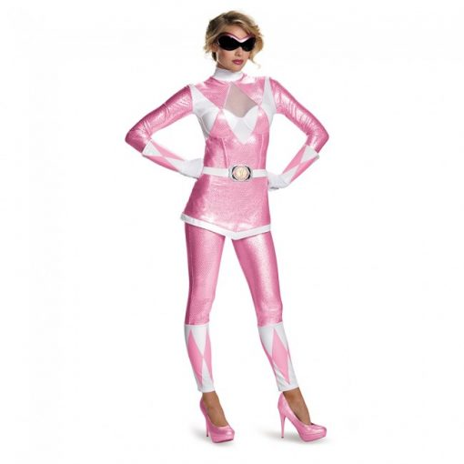 Adult Power Rangers Pink Ranger Bustier Costume