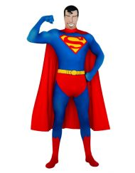 2nd Skin Suit Adult Superman Costume