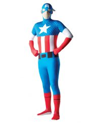 2nd Skin Adult Captain America Costume