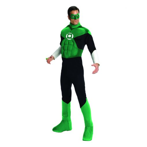 Deluxe Muscle Chest Adult Green Lantern Costume