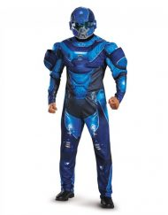 Adult Muscle Halo Blue Spartan Costume