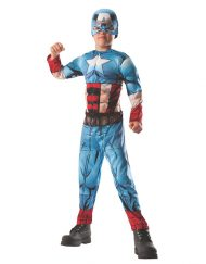 2 in 1 Reversible Deluxe Muscle Chest Kids Hulk/Captain America Costume
