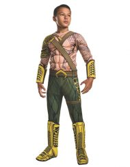 Deluxe Muscle Chest Kids Aquaman Costume