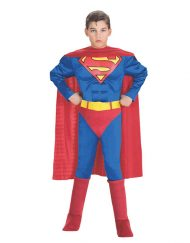 Deluxe Muscle Chest Kids Superman Costume